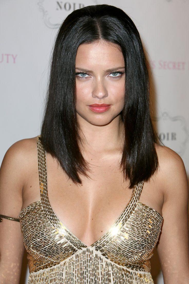 Adriana lima hairstyles 2014 - Long Non Layered Hairstyle Adriana Lima
