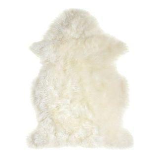 Wren White Sheepskin Rug on Chairish.com