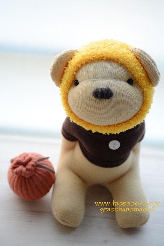 Grace--#389 sock Honey Bear