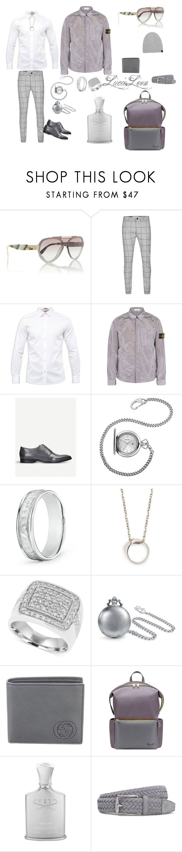 """Feeling gray"" by pynkbutter ❤ liked on Polyvore featuring Prada, Topman, Ted Baker, STONE ISLAND, Kurt Geiger, Bulova, Maison Margiela, Bling Jewelry, Gucci and Fendi"