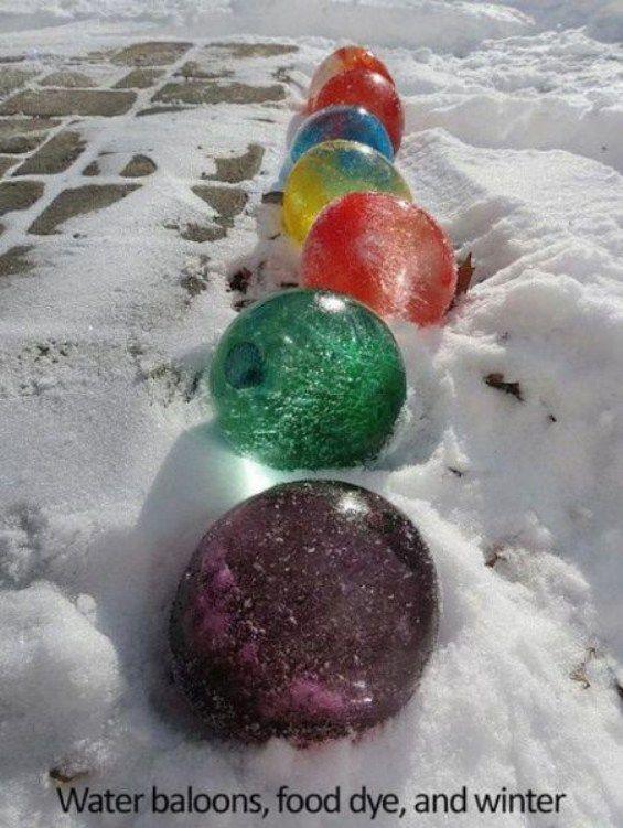 frozen water balloons