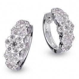 Bijuteria teilor: Cercei aur si diamante
