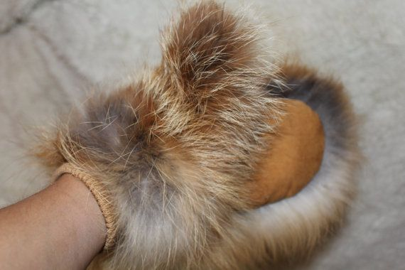 Mittens of foxes  the second option  READY TO by SiberianPresent