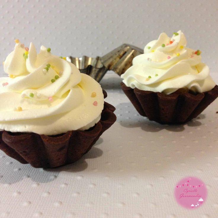 La tarte au chocolat-clémentine revisitée en cupcake {Concours Fou de Pâtisserie}