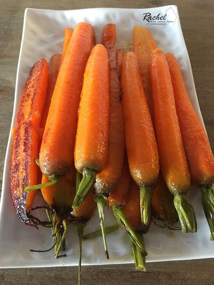 Carottes glacées légères. Une recette simple et rapide de carottes très fondantes ! Un accompagnement original et les enfants adorent !