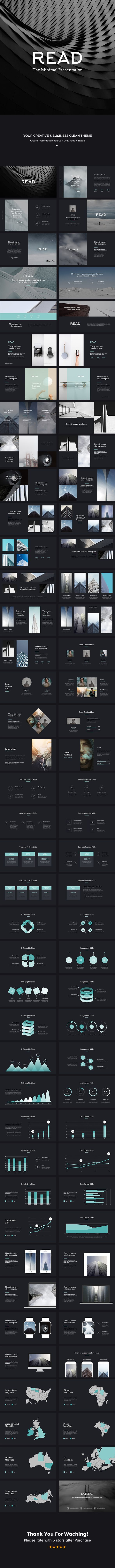 READ Minimal Powerpoint Template #powerpoint #pptx #presentation #portfolio • Download ➝ https://graphicriver.net/item/read-minimal-powerpoint-template/18738767?ref=pxcr