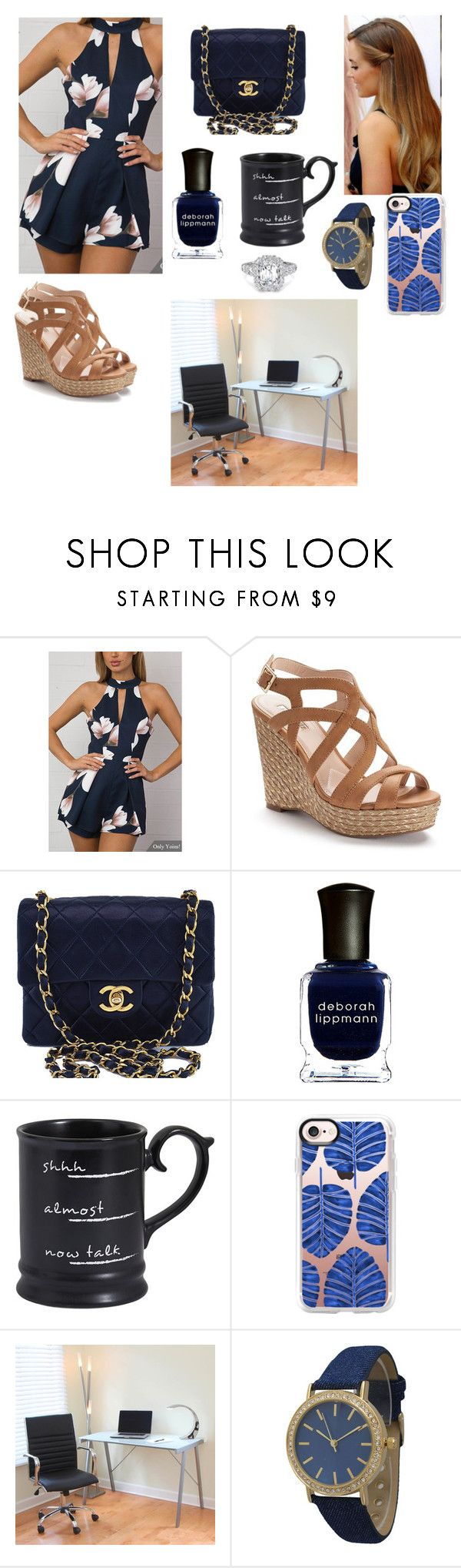 """""""First day of work 🙌🏽"""" by blessandbeloved03 ❤ liked on Polyvore featuring Jennifer Lopez, Chanel, Deborah Lippmann, Pier 1 Imports, Casetify, LumiSource and Olivia Pratt"""