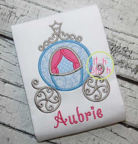I2S Princess Carriage Applique design- so pretty