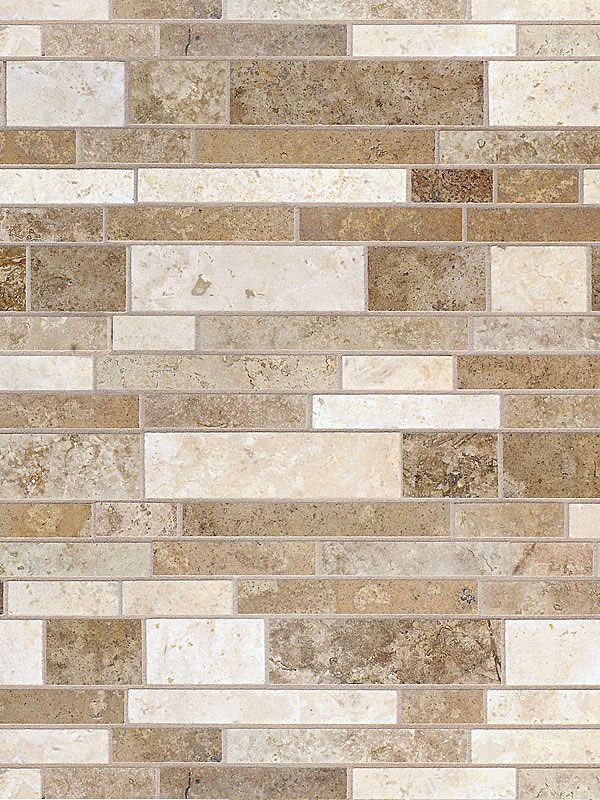 Multi Color Travertine Mix Subway Backsplash Tile Dark Medium And Light Brown Mixed Http