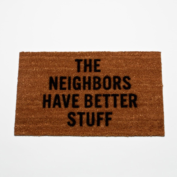 Inexpensive home security system welcome mat (lol).