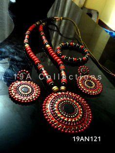 Terracotta Jewellery. More @ www.facebook.com/19aCollections