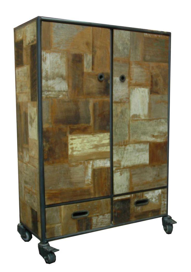 armoire bois recycl kaolin boutique. Black Bedroom Furniture Sets. Home Design Ideas