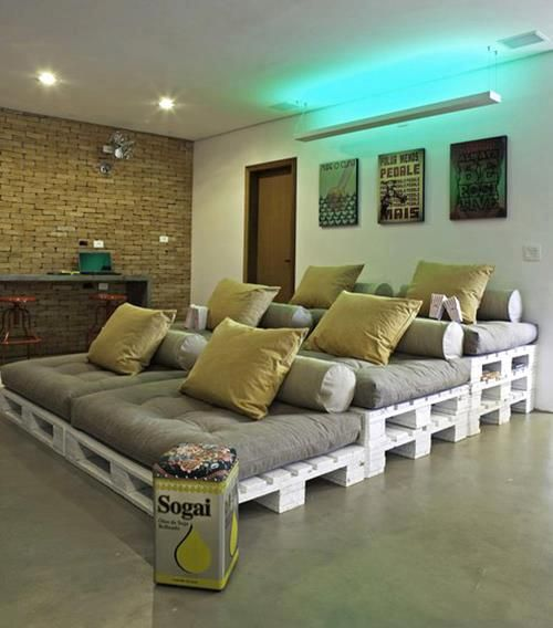 20 Inventive Ways To Upcycle Shipping Pallets. Home Theater SeatingTheater  ...
