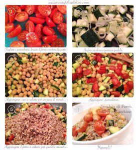 Insalata di Farro, Ceci e Zucchine