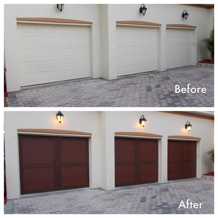 This garage door makeover not only for Wood carriage garage doors