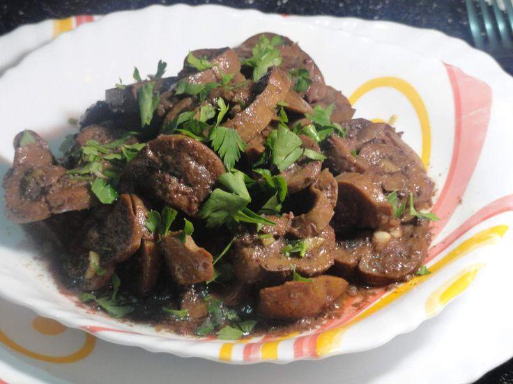 Rognon de veau saut l 39 ail persil et harissa plat alg rien recettes pinterest - Rognons de veau a la creme ...