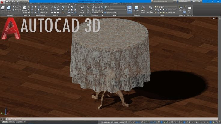AutoCAD 3D Yuvarlak Sehpa Çizimi