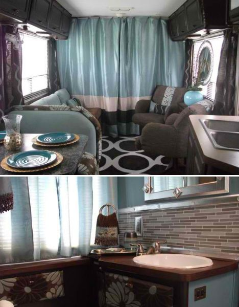 Travel Trailer Remodel | Life on Wheels: 15 Offbeat & Awesome Rolling Homes | WebEcoist
