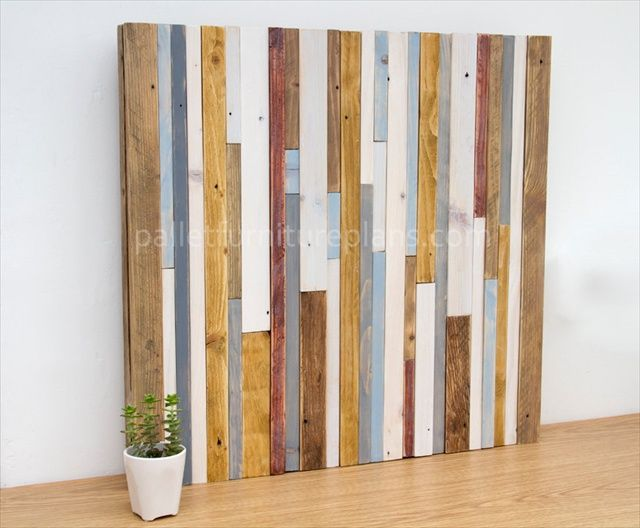 how to build a pallet wood wall