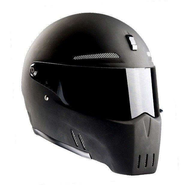 Bandit Alien-II Matte Black Motorcycle Helmet
