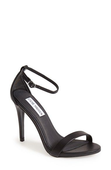 Free shipping and returns on Steve Madden 'Stecy' Sandal (Women) at Nordstrom.com. A slim ankle strap lends a dash of on-trend elegance to a clean, simplified high-heel sandal. Stay a step ahead in Steve Madden's trend-leading styles and easy-to-wear silhouettes. Inspired by rock and roll and fused with a jolt of urban edge, Madden creates products that are innovative, sometimes wild and always spot-on-chic.