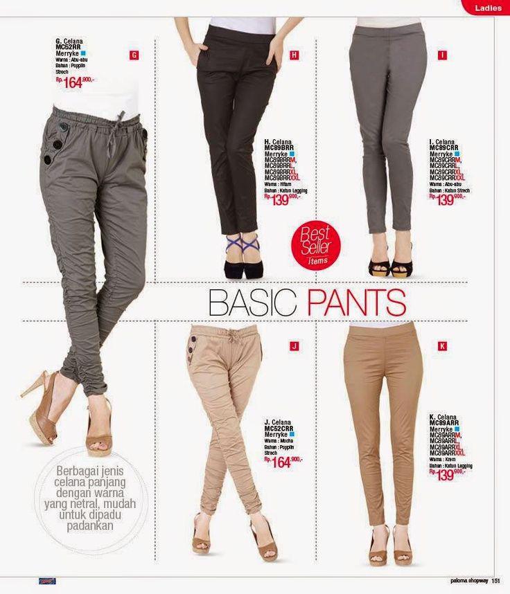 Celana Panjang dan Bawahan Celana Panjang Wanita dan Bawahan model terbaru warna netral yang mudah dipadupadankan dengan setelan atas. Terse...