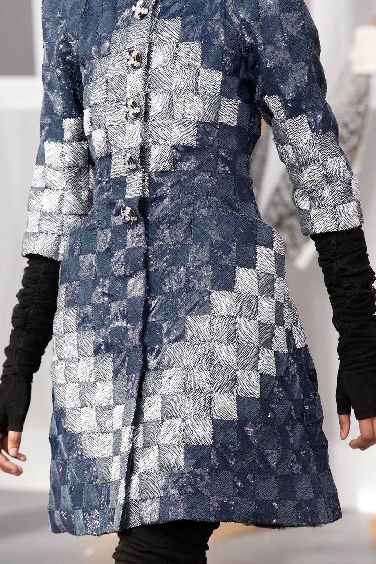 Patchwork sewing inspo. Chanel Fall 2016 Couture Fashion Show Details