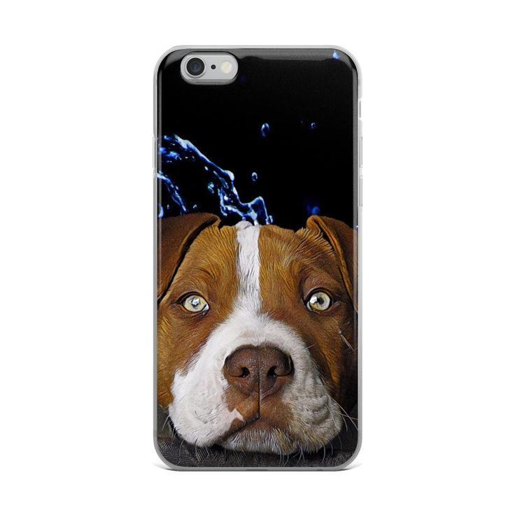cell phone cover with American Stafford dog