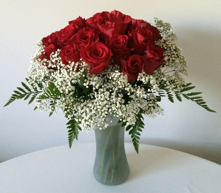 Classic 24 red roses in a vase, $149.95 (http://www.myriadblossoms.com/im-yours/)