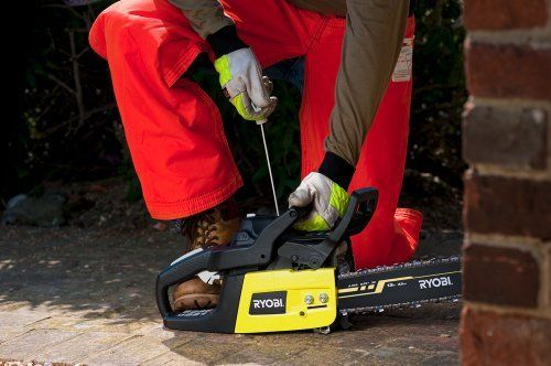 The Ryobi RCS4240B 42cc petrol chainsaw, also available with a 51cc engine, please select your preference in the shop