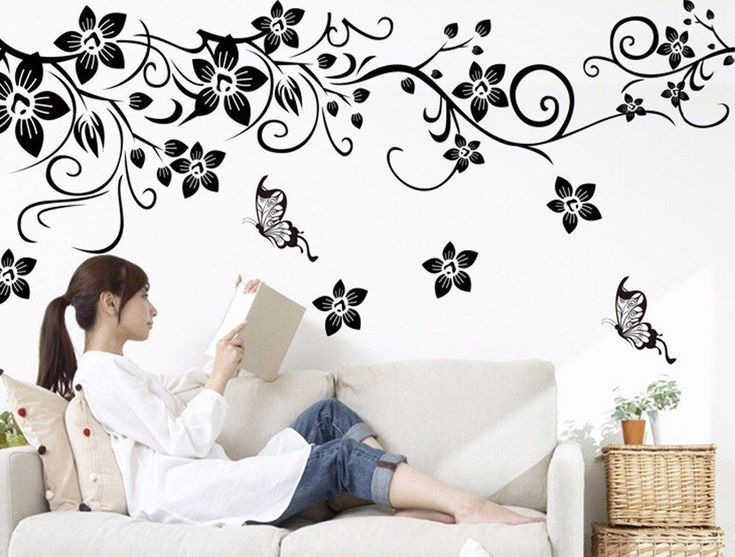 Exquisite Flower Wallpaper Sticker Decoration Fashion Wall Decor