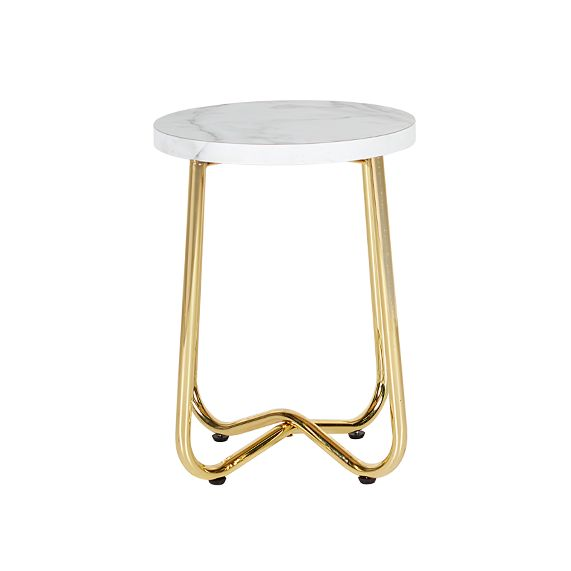 Aura Side Table w marble top - Dann Event Hire