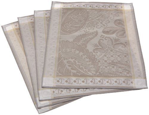 Garnier Thiebaut Isaphire 100-Percent Cotton 16-Inch by 20-Inch Placemats, Platine, Set of 4 by Garnier-Thiebaut. $61.92. 100% Two-ply twisted Cotton. Set of 4 placemats by Garnier-Thiebaut. Available in various colors; collection also includes tablecloths, table runners, and napkins. 100-Percent cotton damask; machine washable. Tightly woven jacquard with silky, sophisticated design. Each mat measures 16 by 20 inches; made in France. Decorate your table in elegant sophisticati...