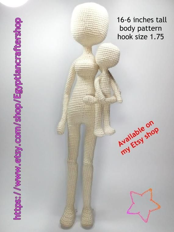 Super crochet doll body pattern etsy ideas   760x570
