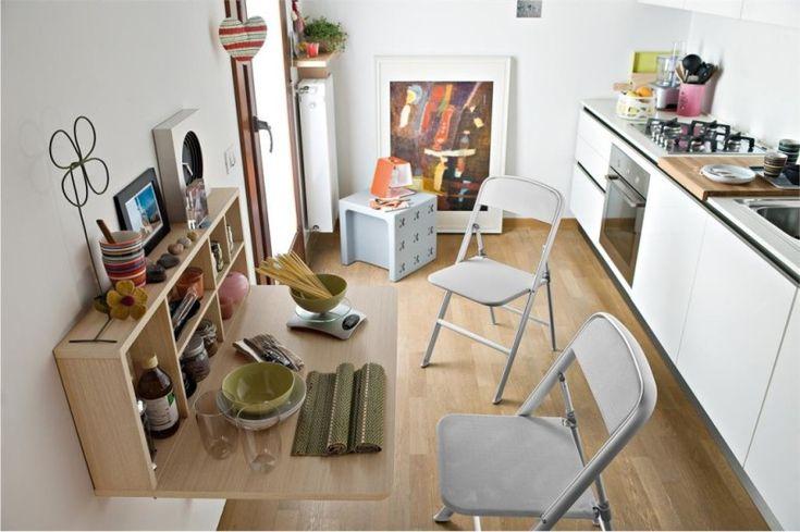 Откидной столик на проходной кухне