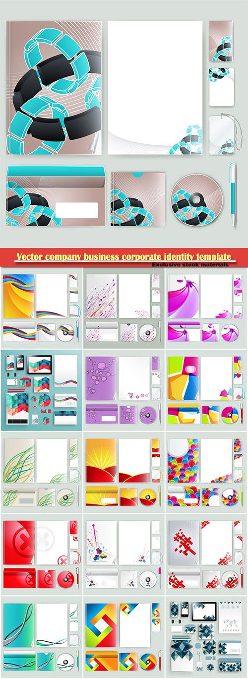Vectors  company business corporate identity template with color elements Free Download http://ift.tt/2BgwFrQ