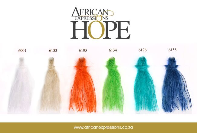#Hope #AE #AfricanExpressions #AEYarns #Mohair #Yarn #ShadeCard  www.africanexpressions.co.za