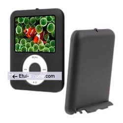 Coque soft touch iPod Nano 3 avec stand sur http://www.etui-iphone.com/ rubirque #ipod #nano