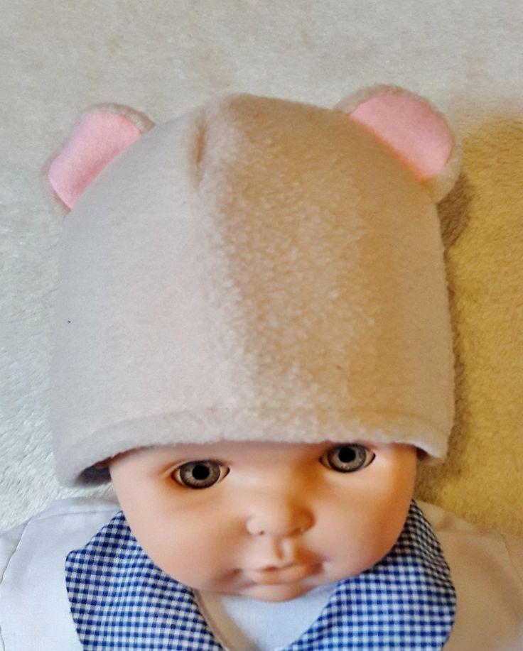 Bear hat, baby's fleece hat, winter accessories, novelty hat, Christmas gift, birthday gift, baby shower, winter wardrobe, winter wear by Handcraftedgifts4u on Etsy
