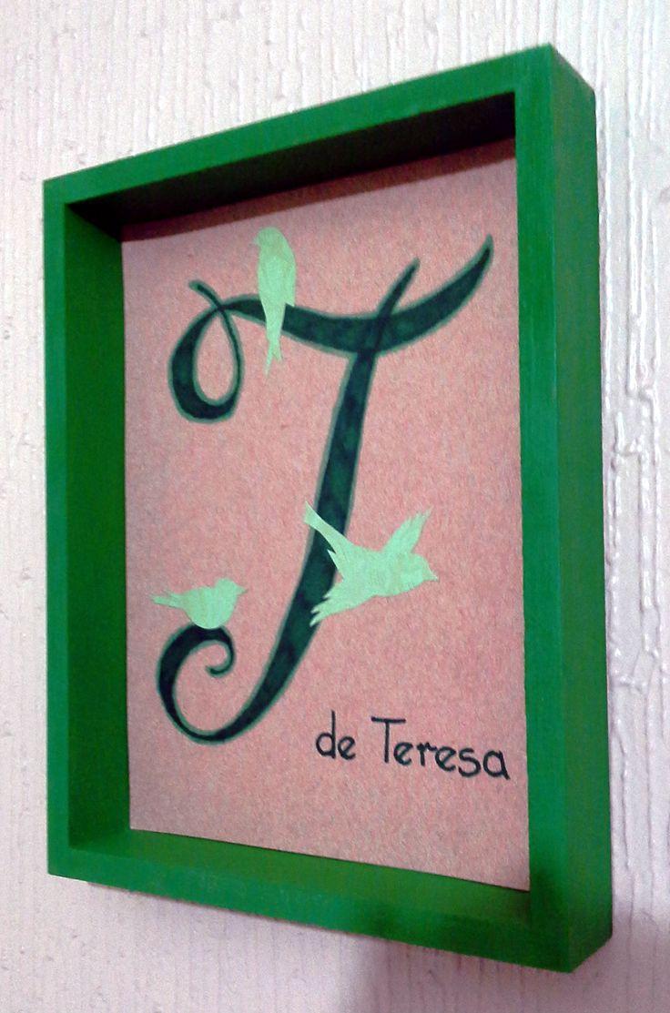 Monograma letra T.