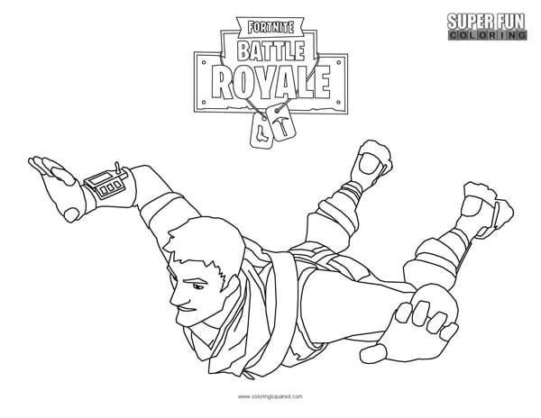 Fortnite Battle Royale Coloring Page Coloring Squared Coloring