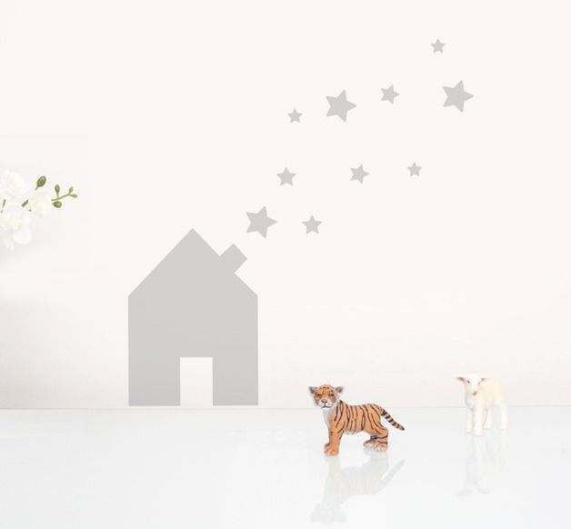 Popular Wandsticker Kinderzimmer kleines Haus