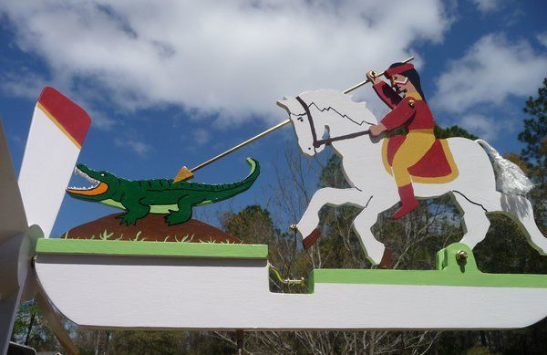 FSU Seminole Spearing 'Gator Whirligig $49.95