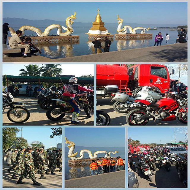 A lot happening in Phayao that day!   A normally quite sleepy town.   #phayao #motorbikes #thailand