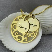 Family Tree náhrdelník Gold Personalizované Mom náhrdelník vyryto Naše rodina Jméno náhrdelník Typový Šperky (Čína (pevninská část))
