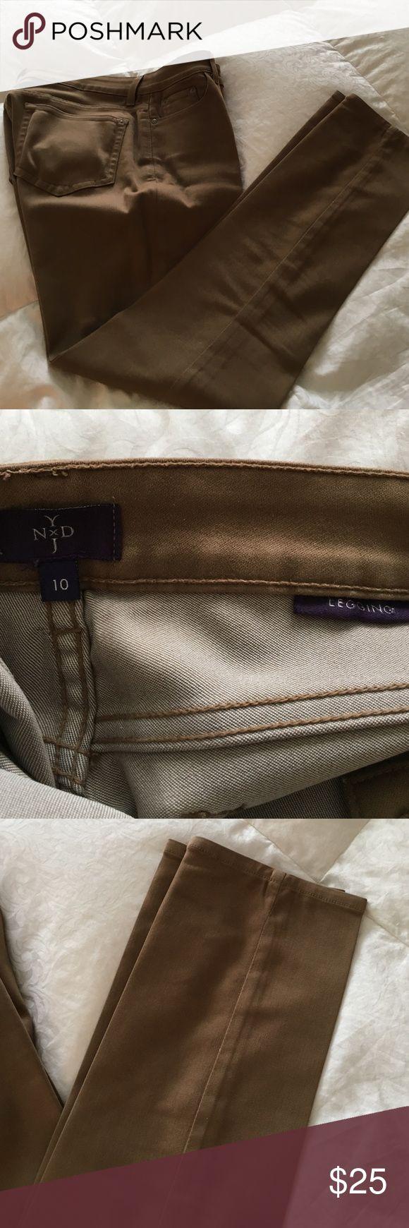 """Dark tan jeans size 10 Dark tan jeans dark tan legging from NYDJ inseam 31"""" NYDJ Jeans Skinny"""