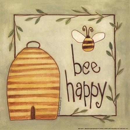 Bee Happy Fine-Art Print by Bernadette Deming at FulcrumGallery.com