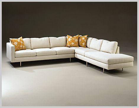Simple Elegant Milo Baughman 855 Classic Sectional Thayer Coggin LAF Sofa AW Left Corner Chaise Height to top of back cushions New Design - Simple Elegant Sectional Fabric sofas Review