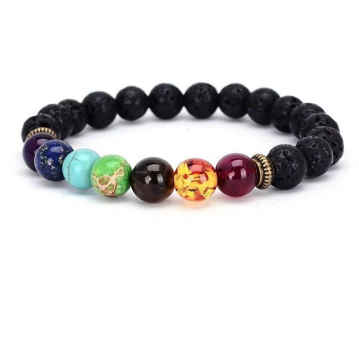 Seven Chakras Buddha Bracelet for Chakra Alignment