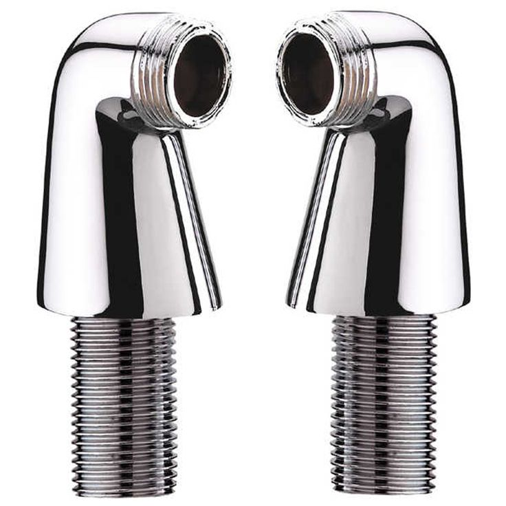 Universal Chrome Bathroom Wall Mounted Bath Mixer Tap Adaptor Pillar Legs SZ03 - None from TAPS UK